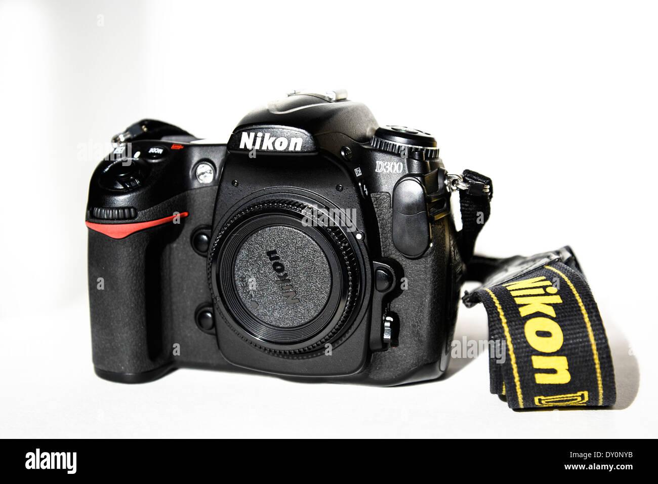 Nikon D300 DSLR camera body - Stock Image