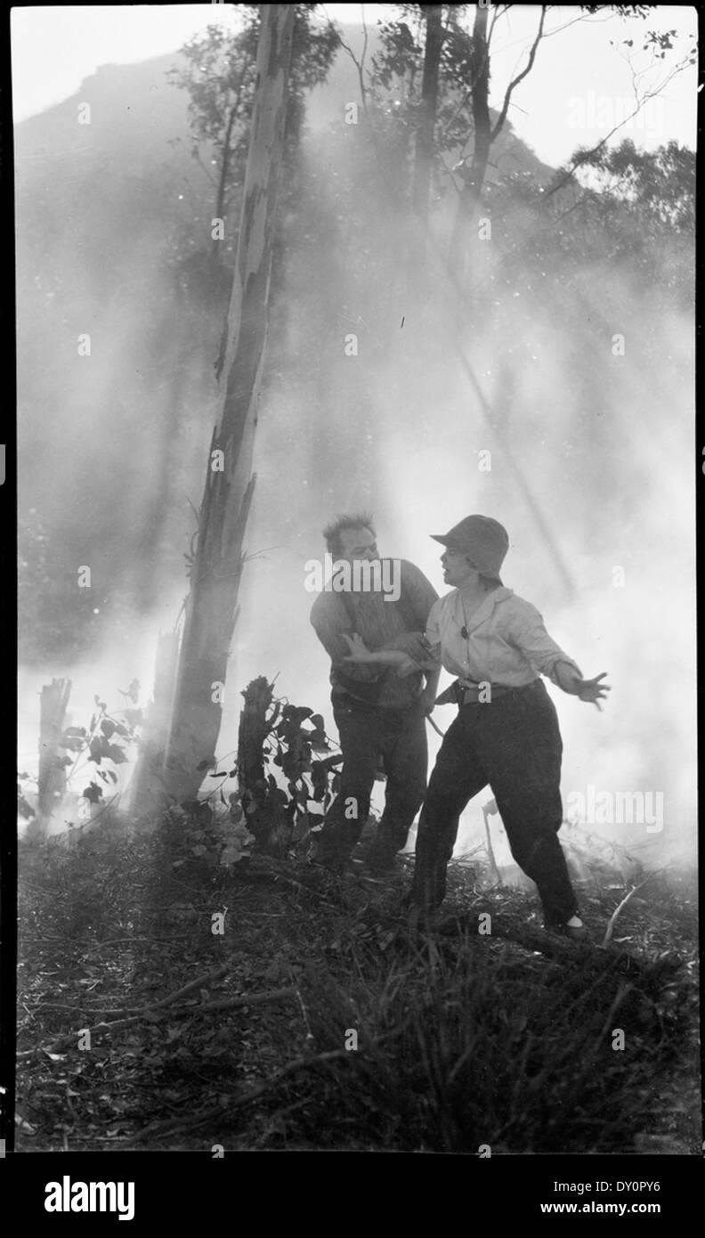Film Party In The Bush In A Bushfire Ca 1925 Original Envelope Stock Photo Alamy