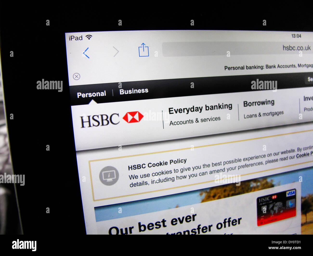 HSBC website on iPad Stock Photo: 68245997 - Alamy