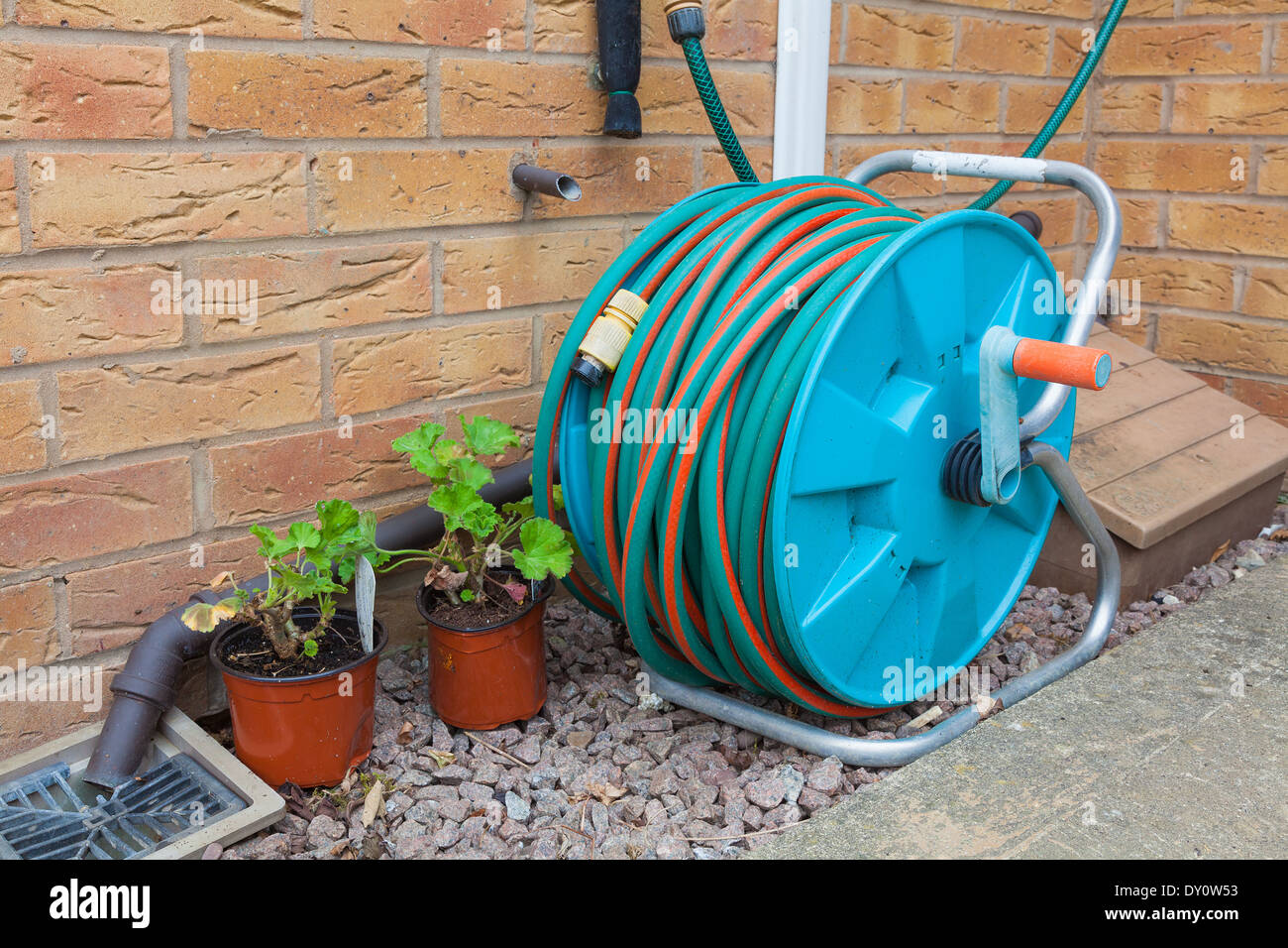 Garden Hose Reel Stock Photos & Garden Hose Reel Stock Images - Alamy