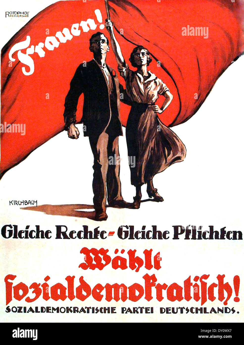 GERMAN SOCIAL DEMOCRATIC PARTY poster 1919 - Stock Image