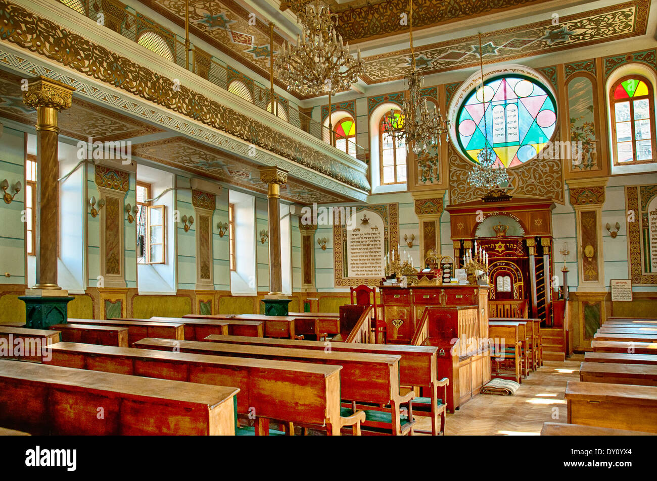 Synagogue interior - Stock Image