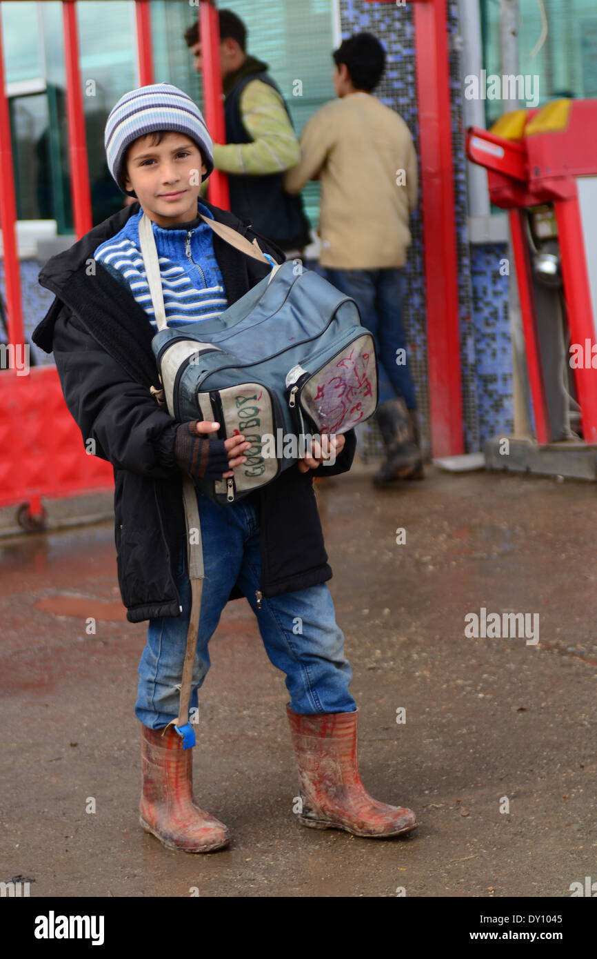 asad assad bad bashar boy camp child civil civilian condition escape future girl hope poor portrait refugee refugees revolution - Stock Image