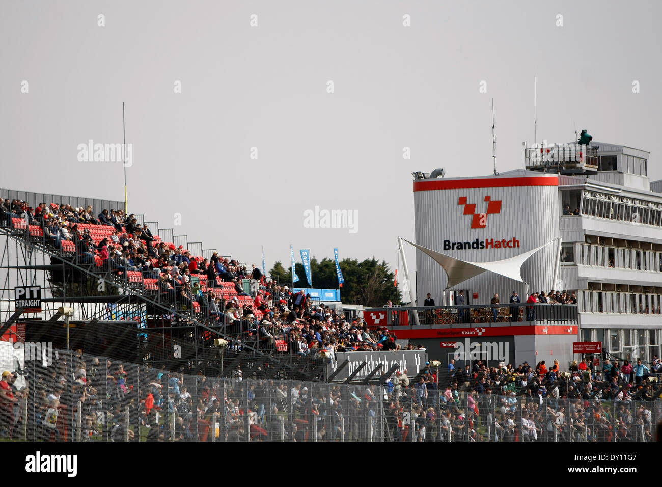 Crowds at Brands Hatch - Stock Image