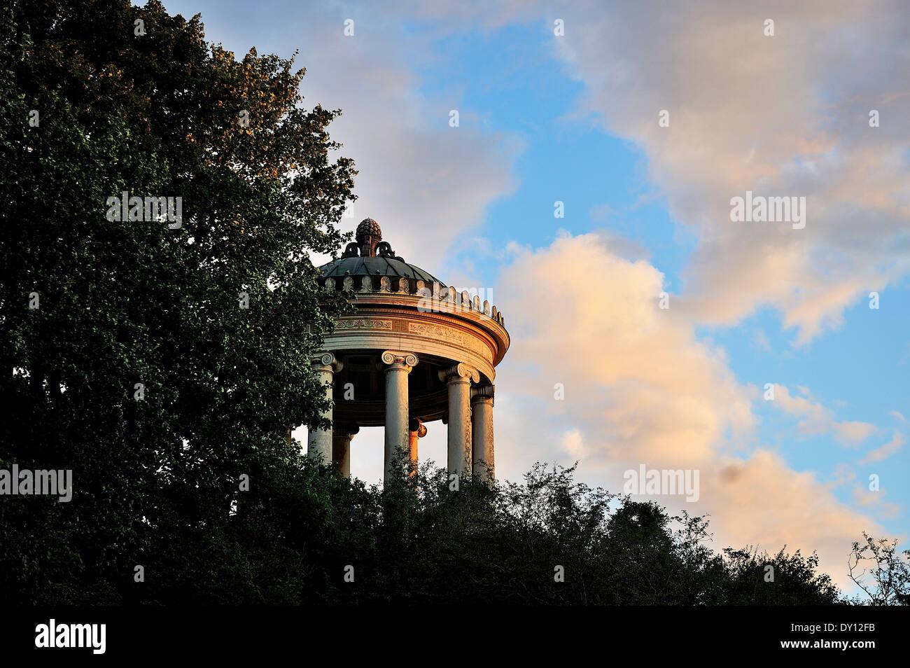 Menopterus, Muenchen, Englischer Garten, Munich, English Garden - Stock Image