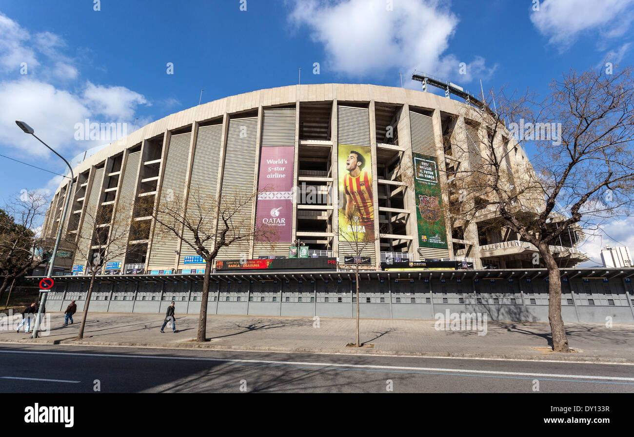 Barcelona FC Camp Nou football stadium, Barcelona, Spain. - Stock Image