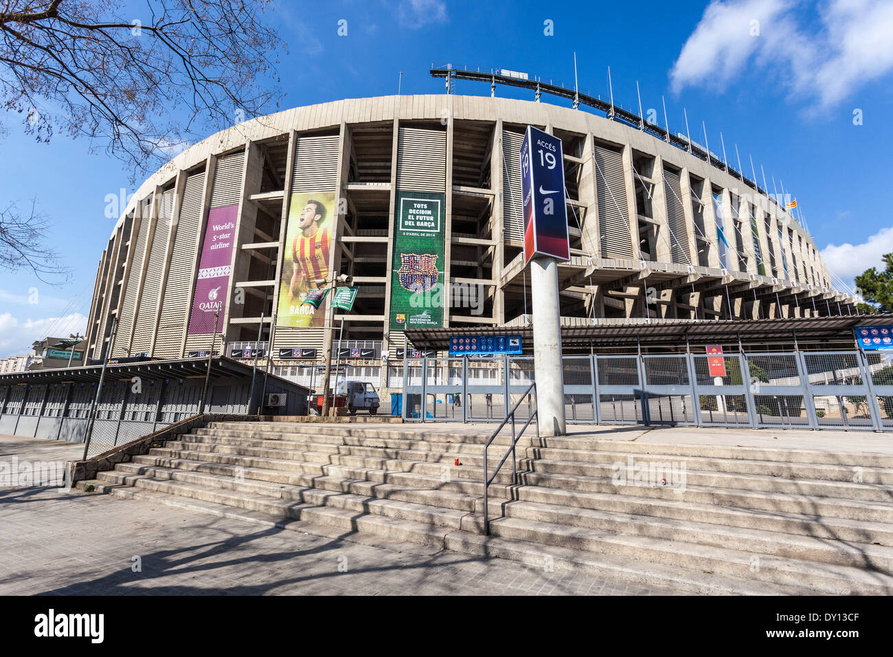 Barcelona FC Camp Nou football stadium, Barcelona, Spain. - Stock Image