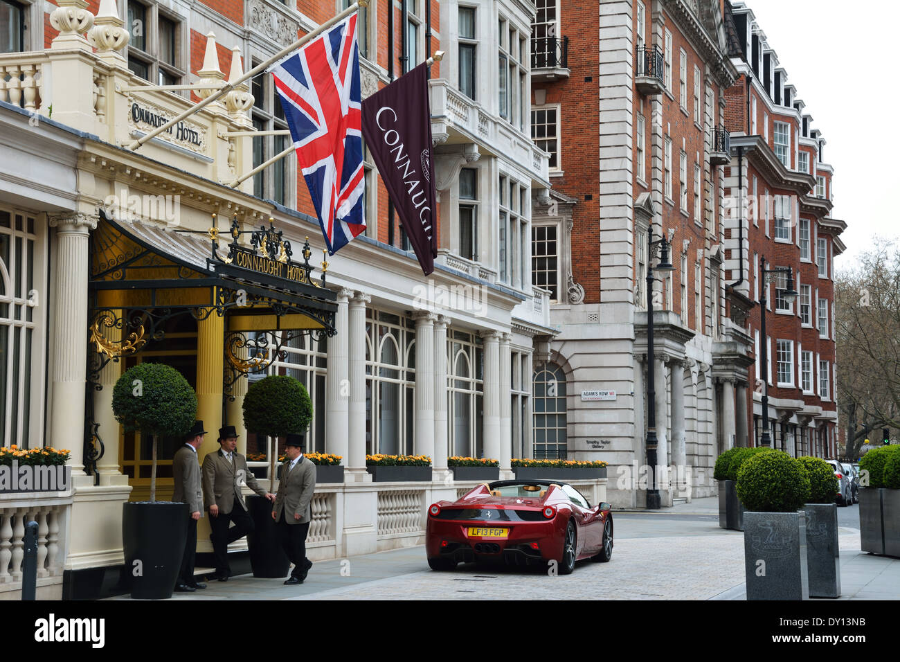 The Connaught Hotel, Mayfair, London,UK - Stock Image