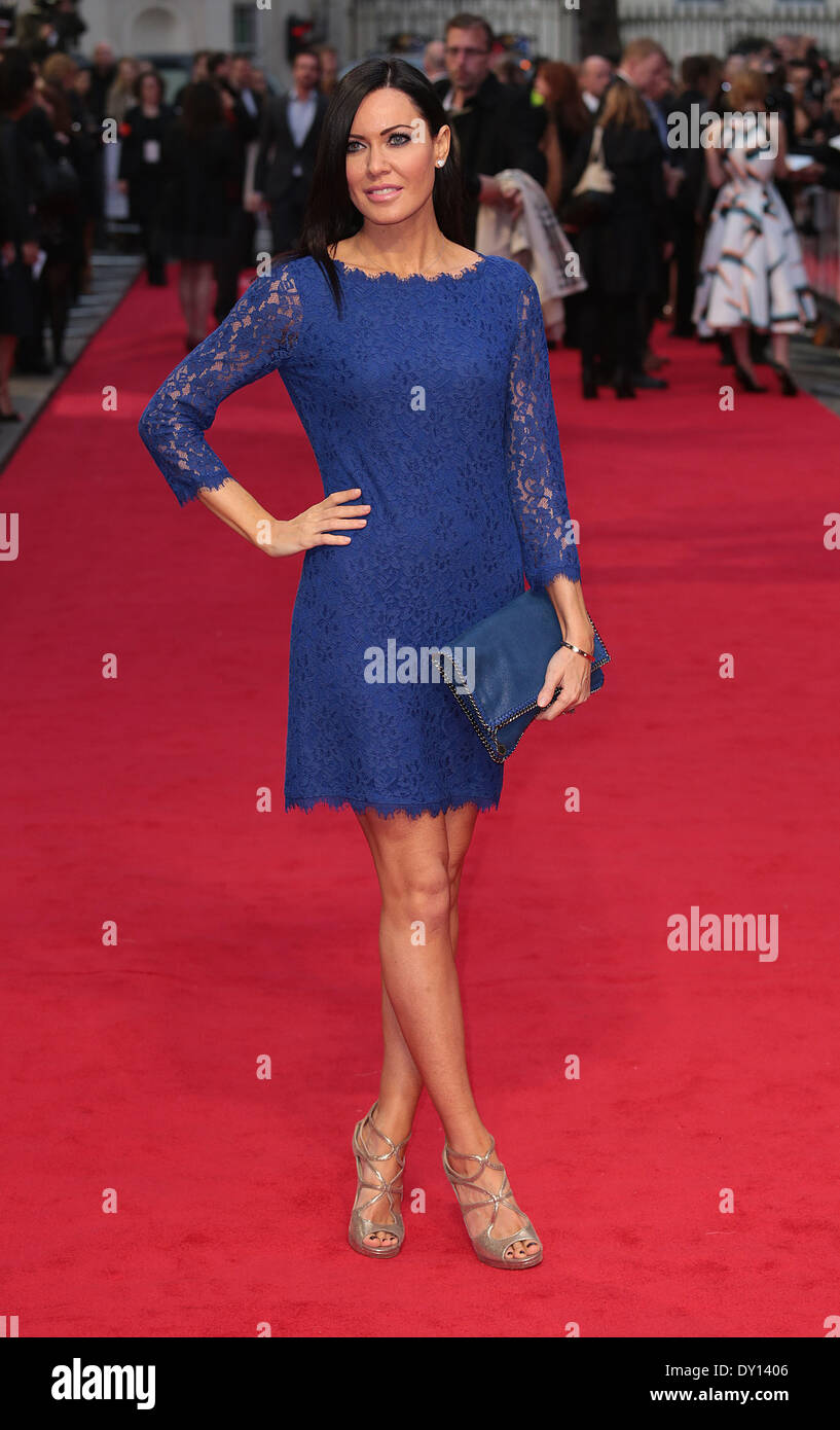 London, UK, 2nd April 2014 Linzi Stoppard attends the UK Gala Screening of 'The Other Woman' at The Curzon Mayfair Photo: MRP/Alamy Live News - Stock Image
