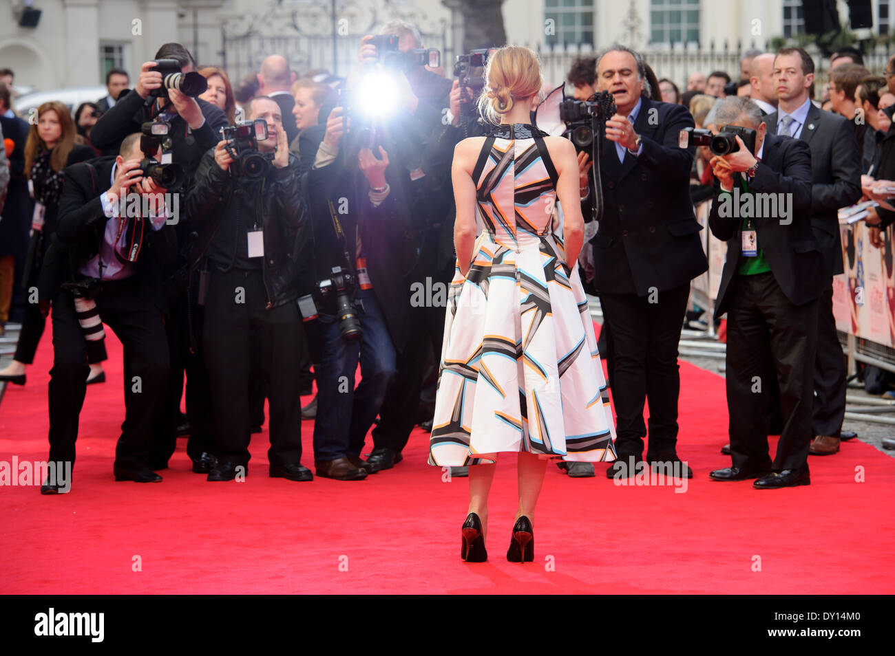 Leslie Mann arrives for the UK premiere of The Other Woman. - Stock Image