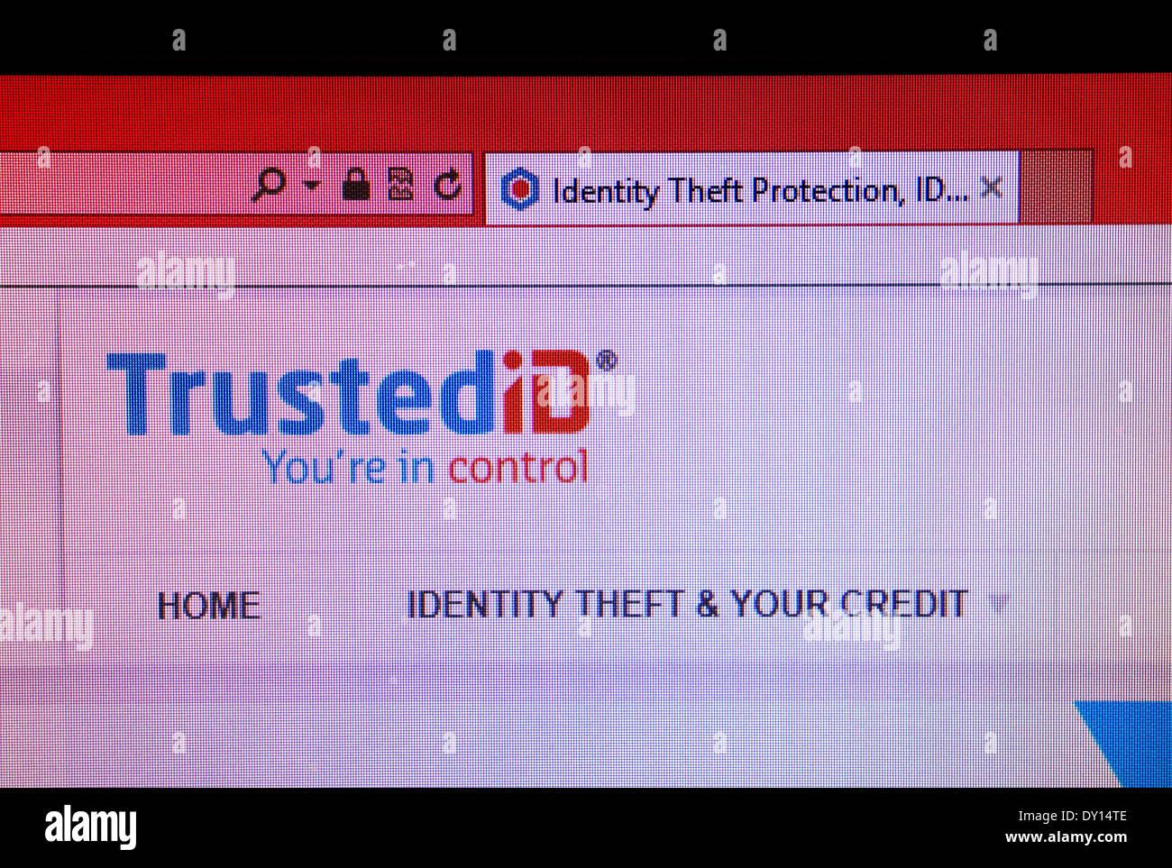 TrustediD identity theft website Stock Photo
