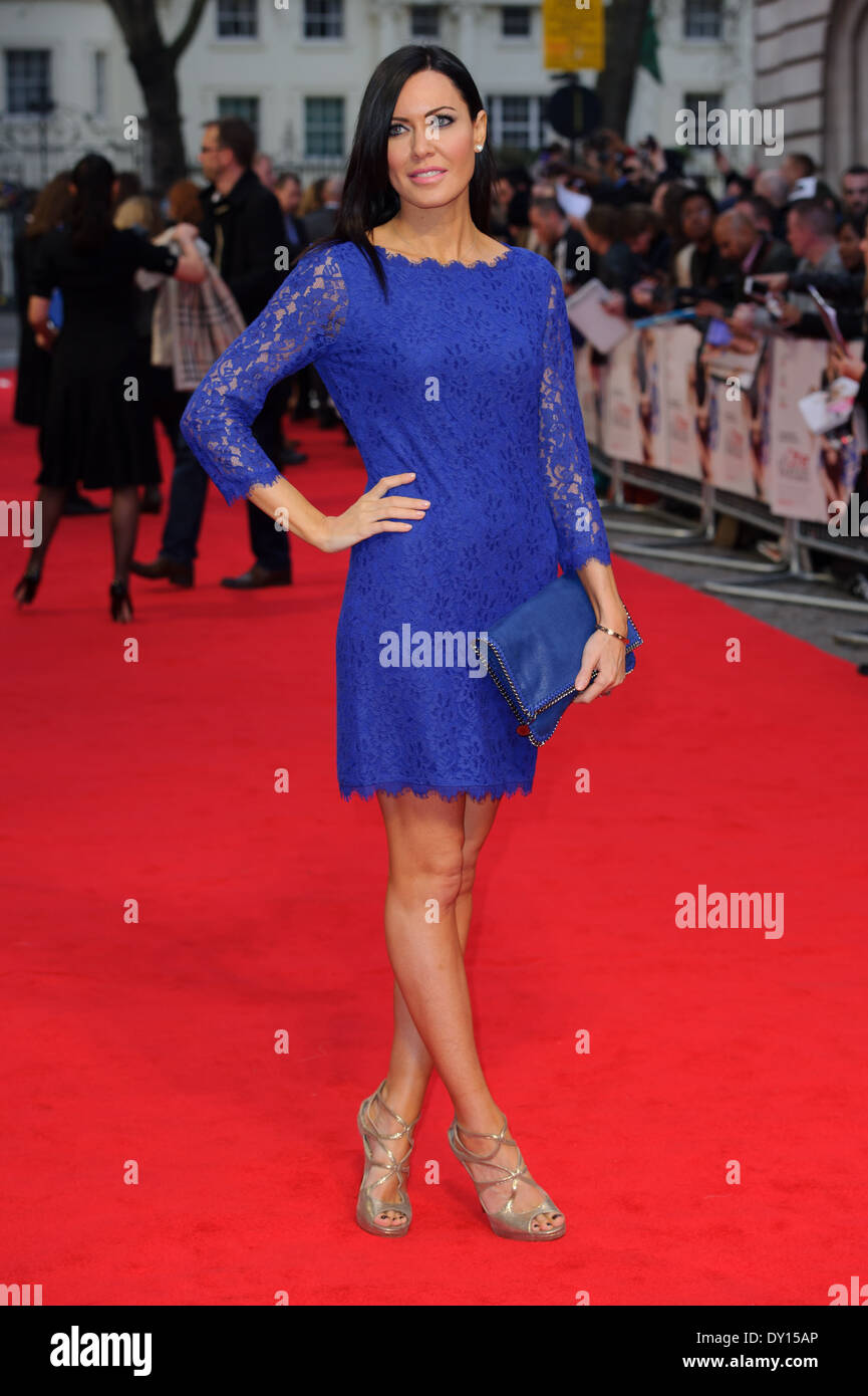 Linzi Stoppard arrives for the UK premiere of The Other Woman. - Stock Image