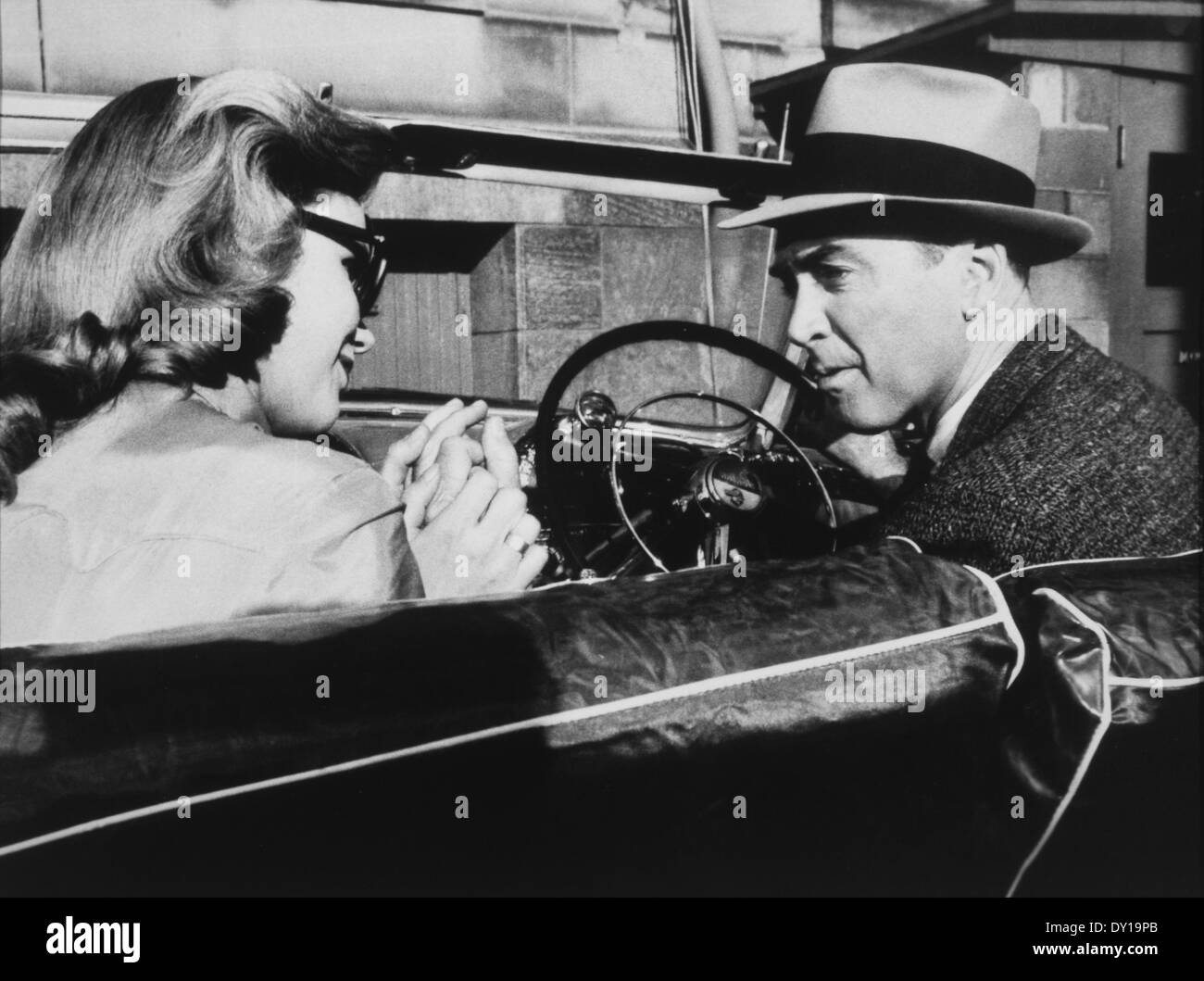 James Stewart and Lee Remick, on-set of the Film, \