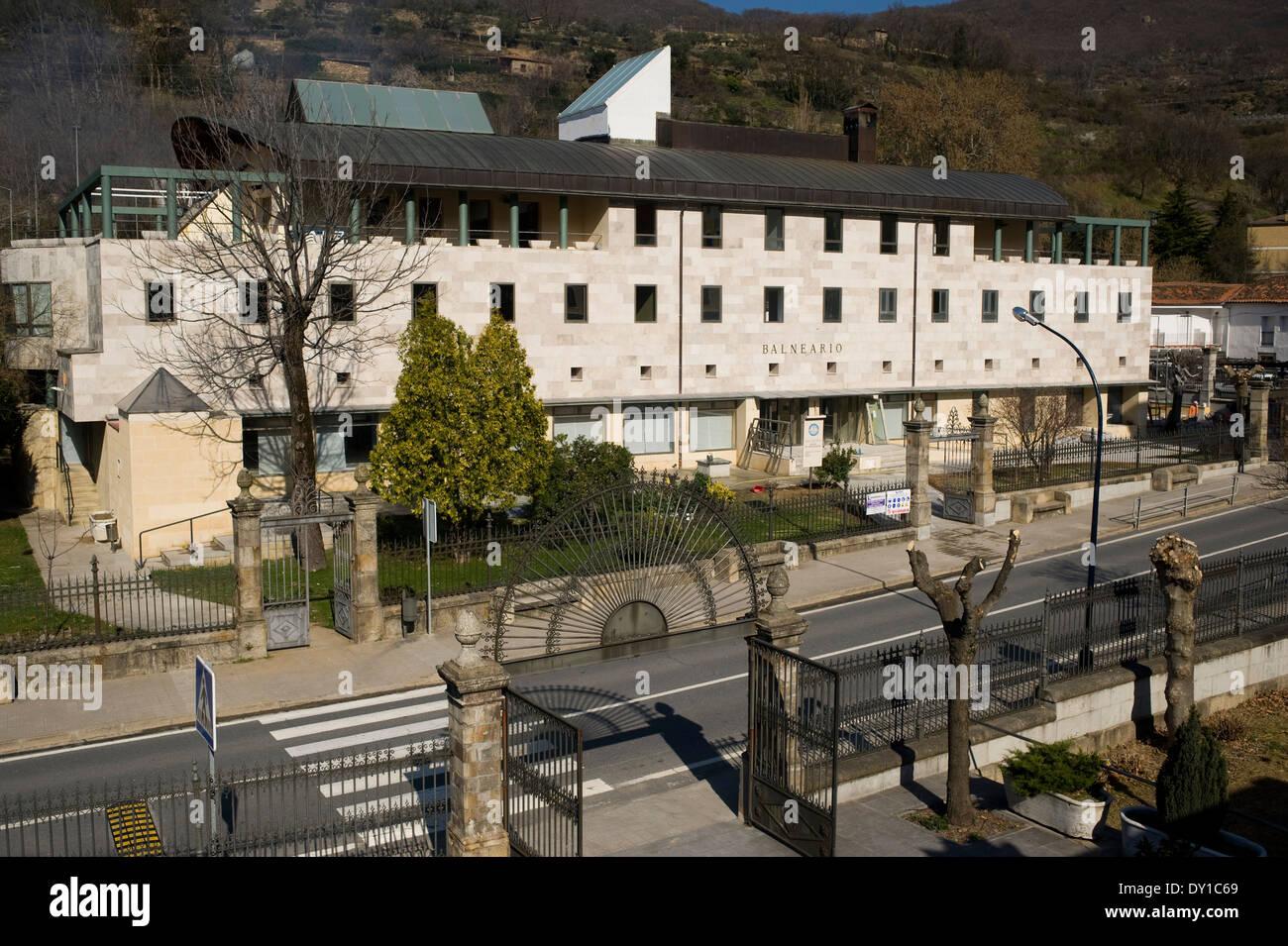 Banos De Montemayor Spa Caceres Extremadura Spain Stock Photo