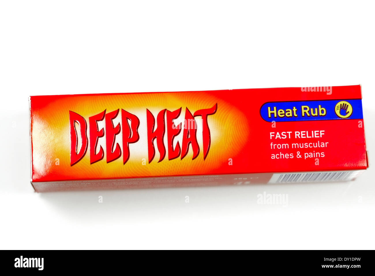 Retail pack of Deep Heat muscular heat rub - Stock Image
