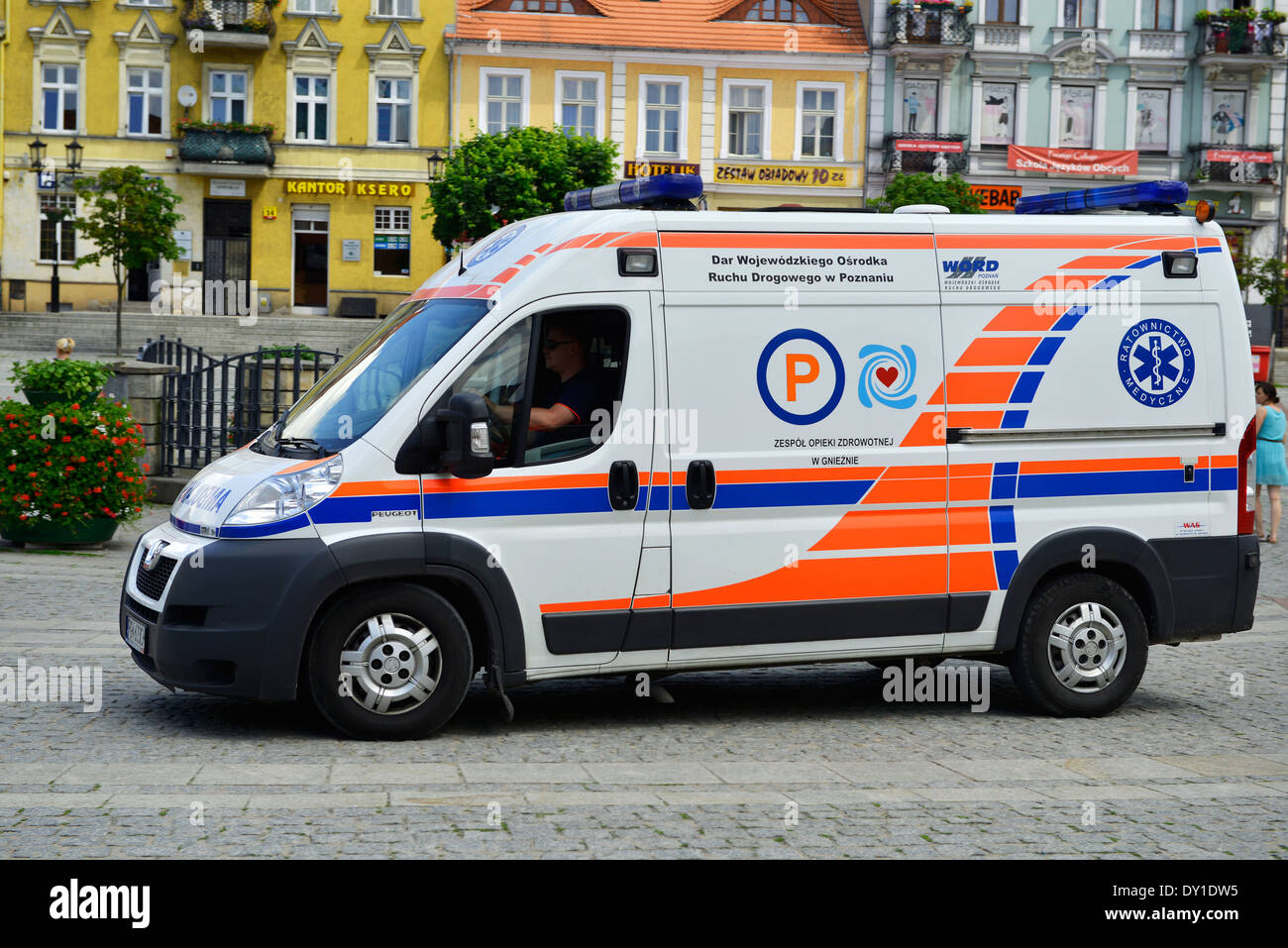 Ambulance, Poland - Stock Image