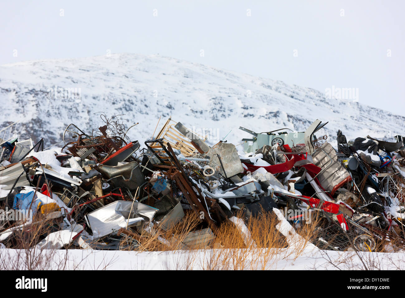 Arctic dumping ground in Norway - Stock Image