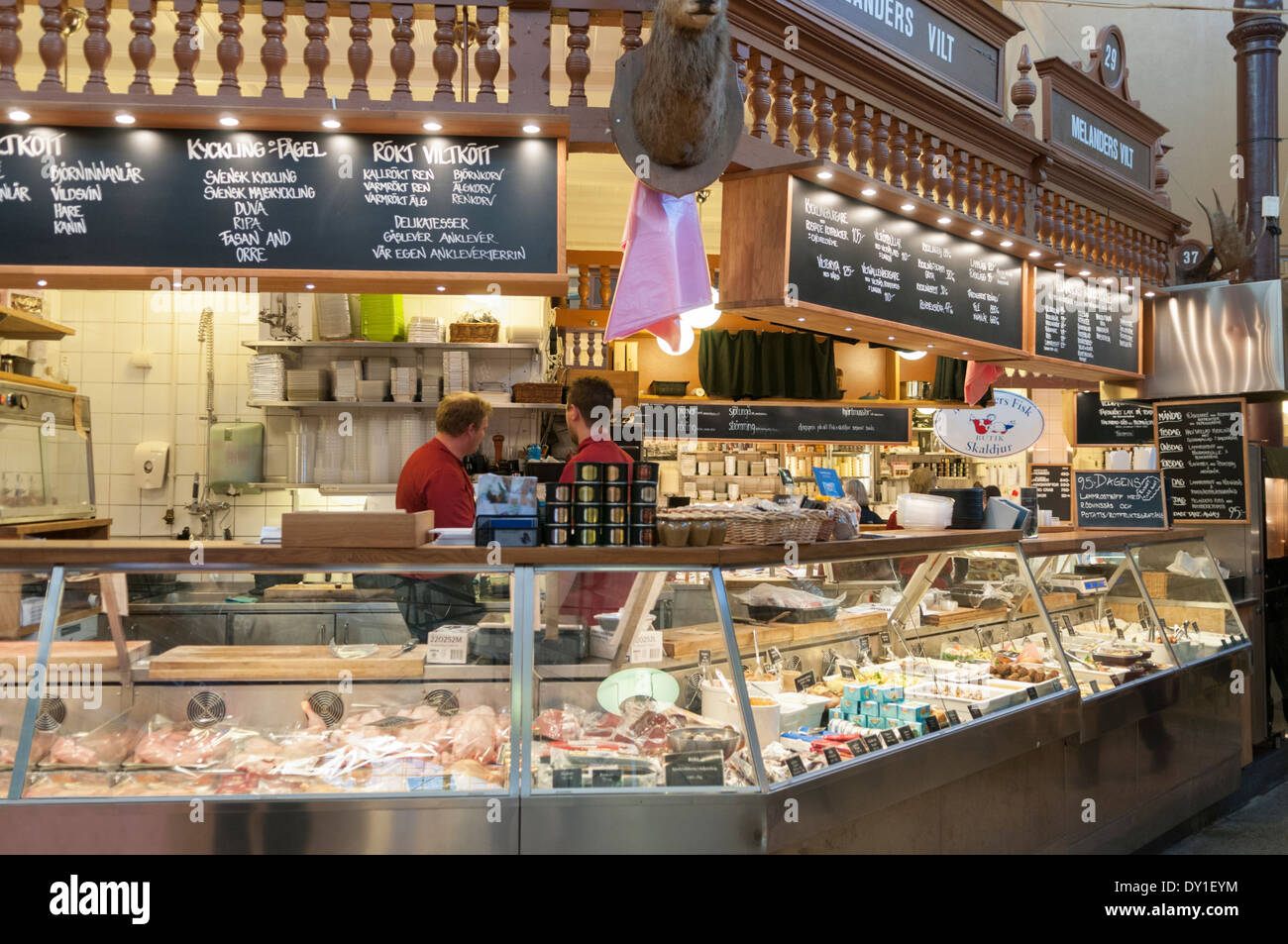 Ostermalm Food Hall Stockholm Sweden - Stock Image