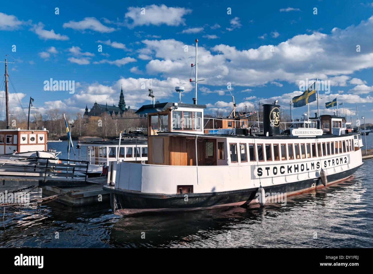 Passenger ferries Östermalm Stockholm Sweden - Stock Image
