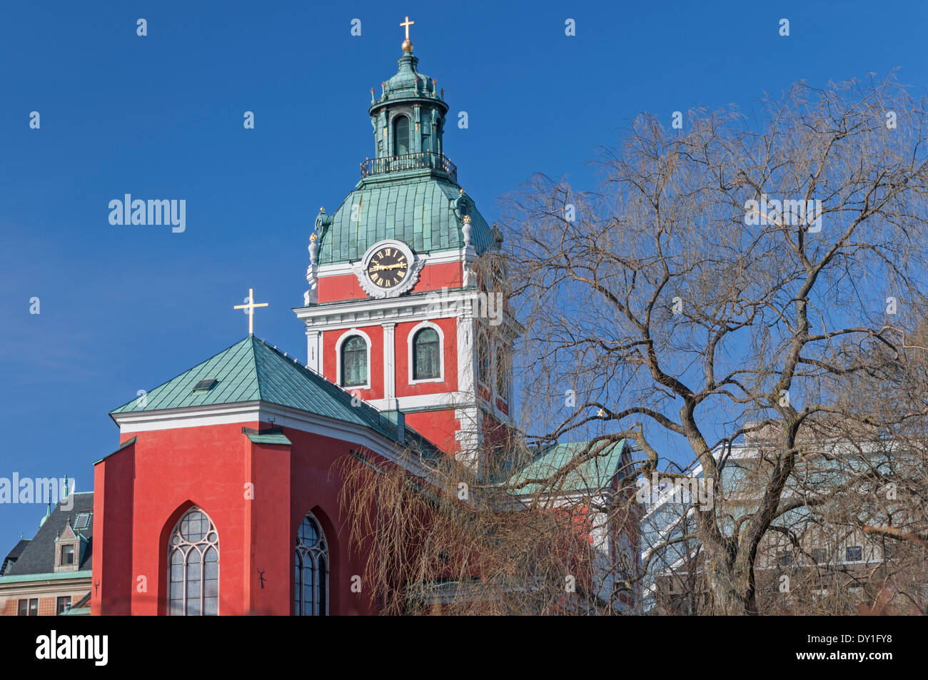 St Jacob's Church Stockholm Sweden - Stock Image