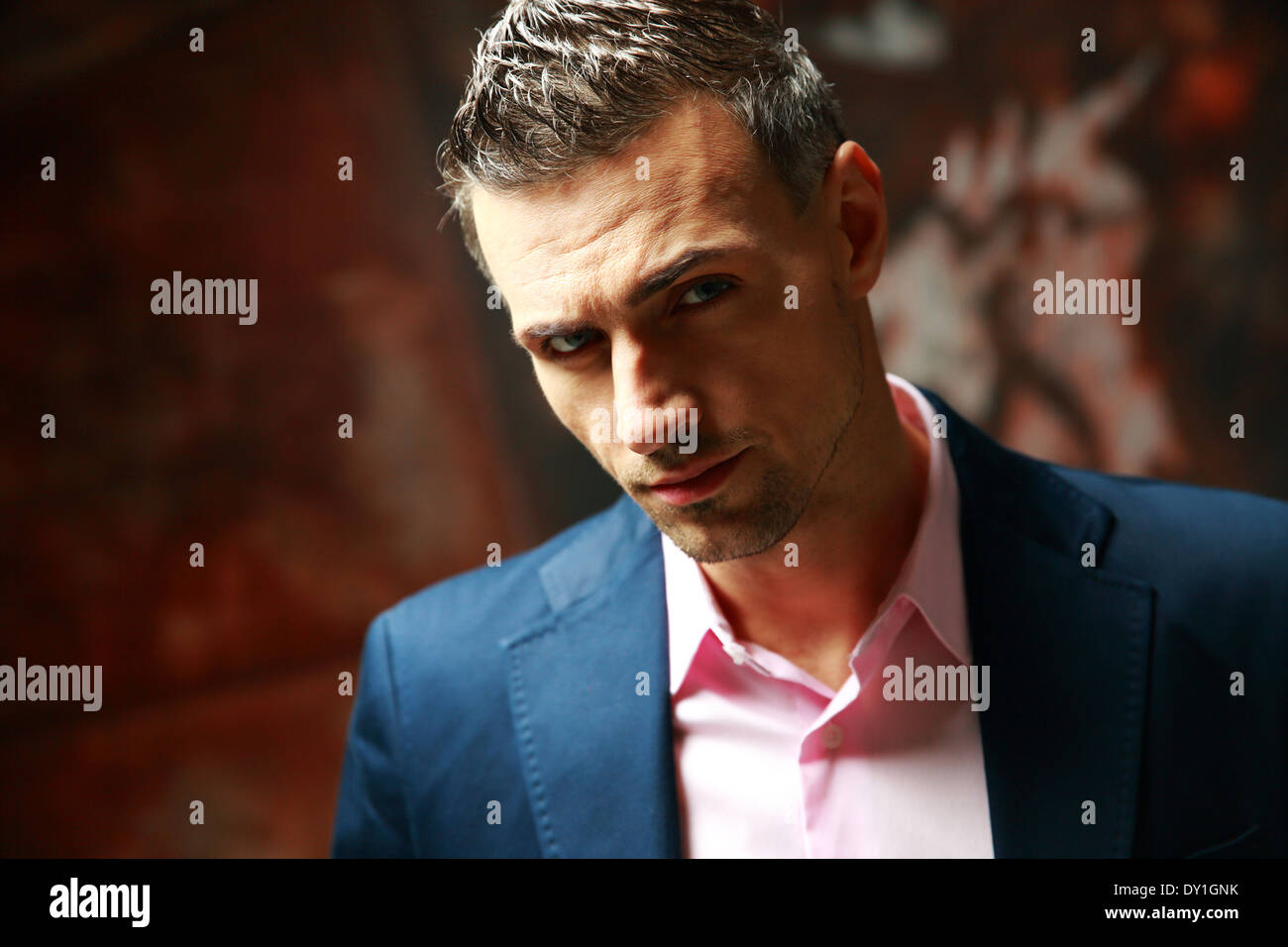 Portrait of a confident businessman - Stock Image