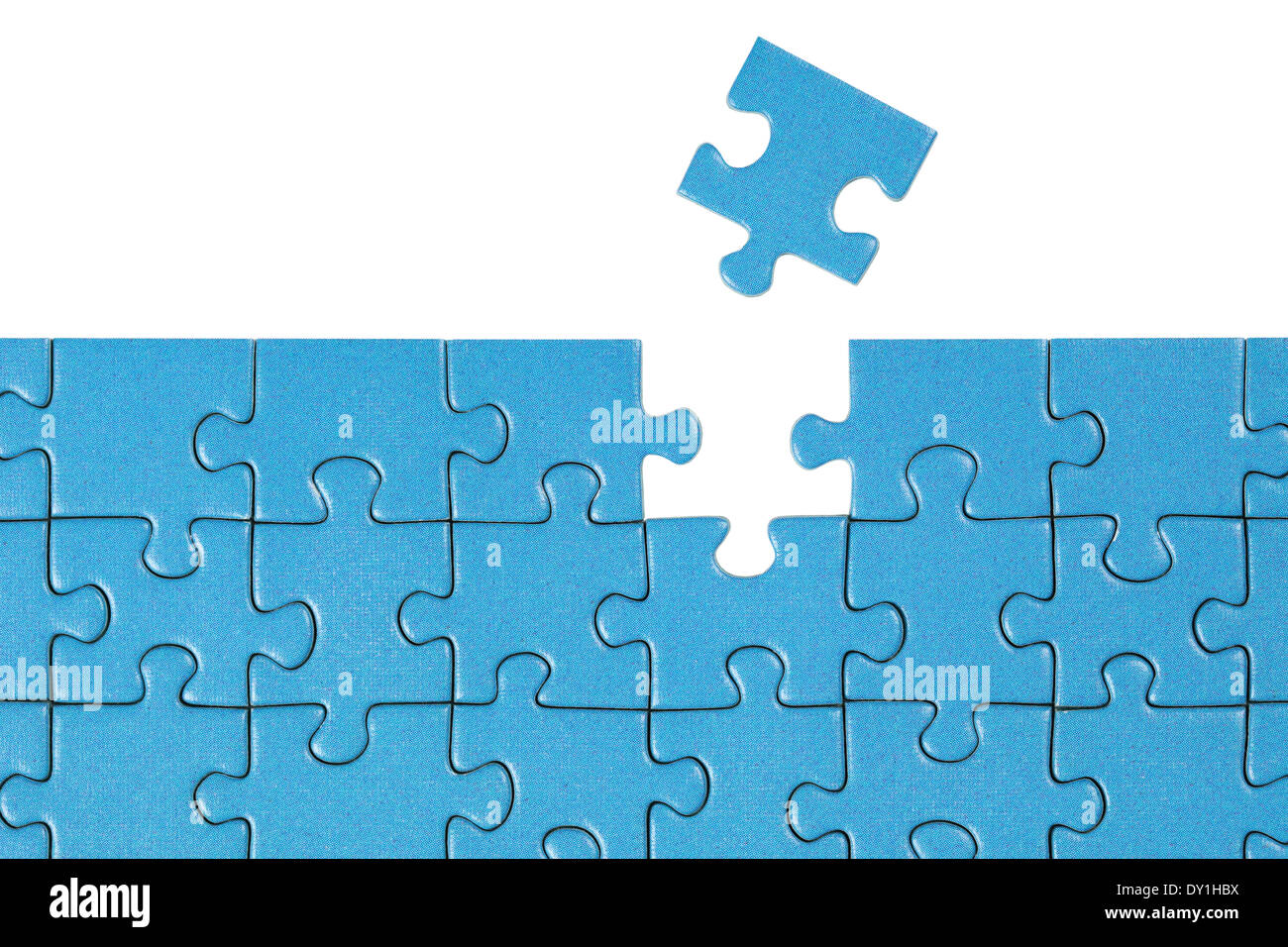 Symbolic picture showing the solution for a problem with a puzzle - Stock Image