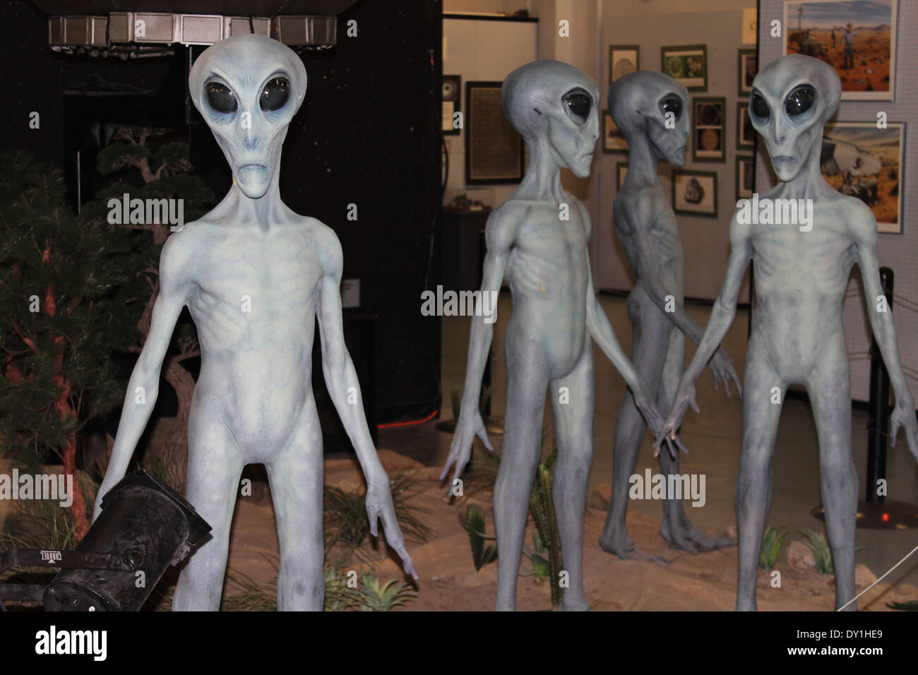 UFO Museum aliens, Roswell, New Mexico, USA - Stock Image