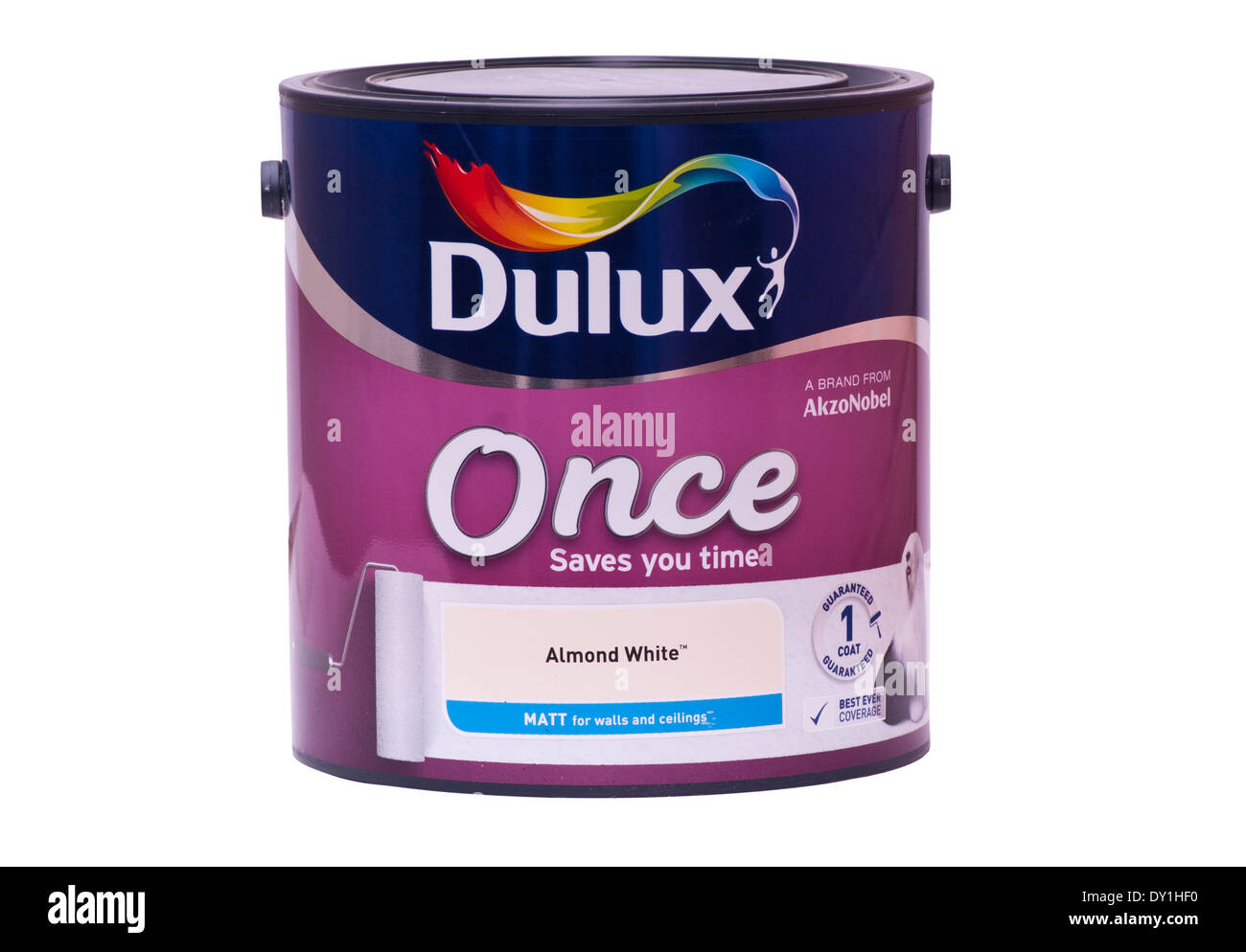 Tin Of Dulux Paint Once Brand - Stock Image