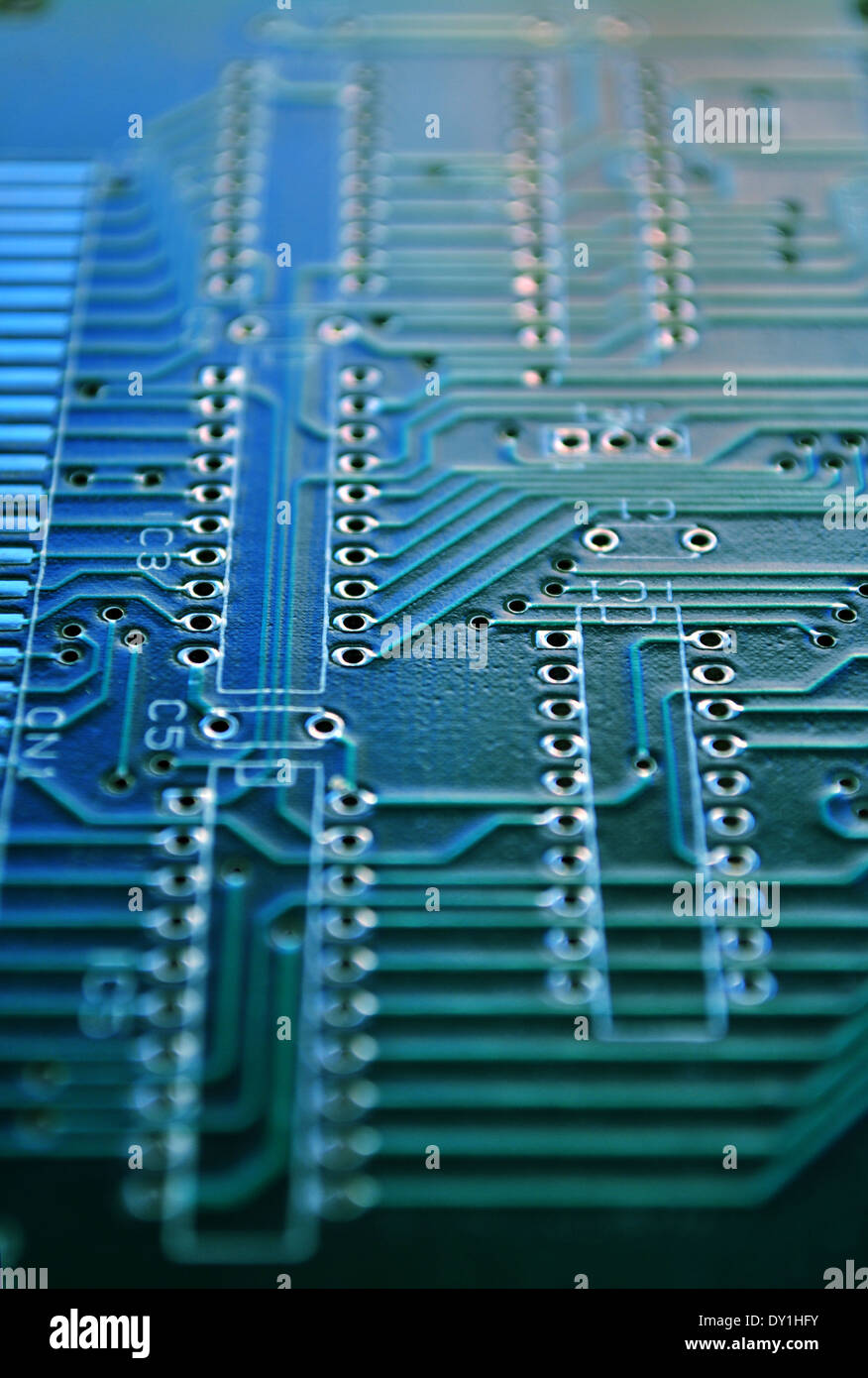 Microprocessor Chip Silicon Stock Photos Electronic Integrated Circuit Royalty Free Image Detail Of Board With