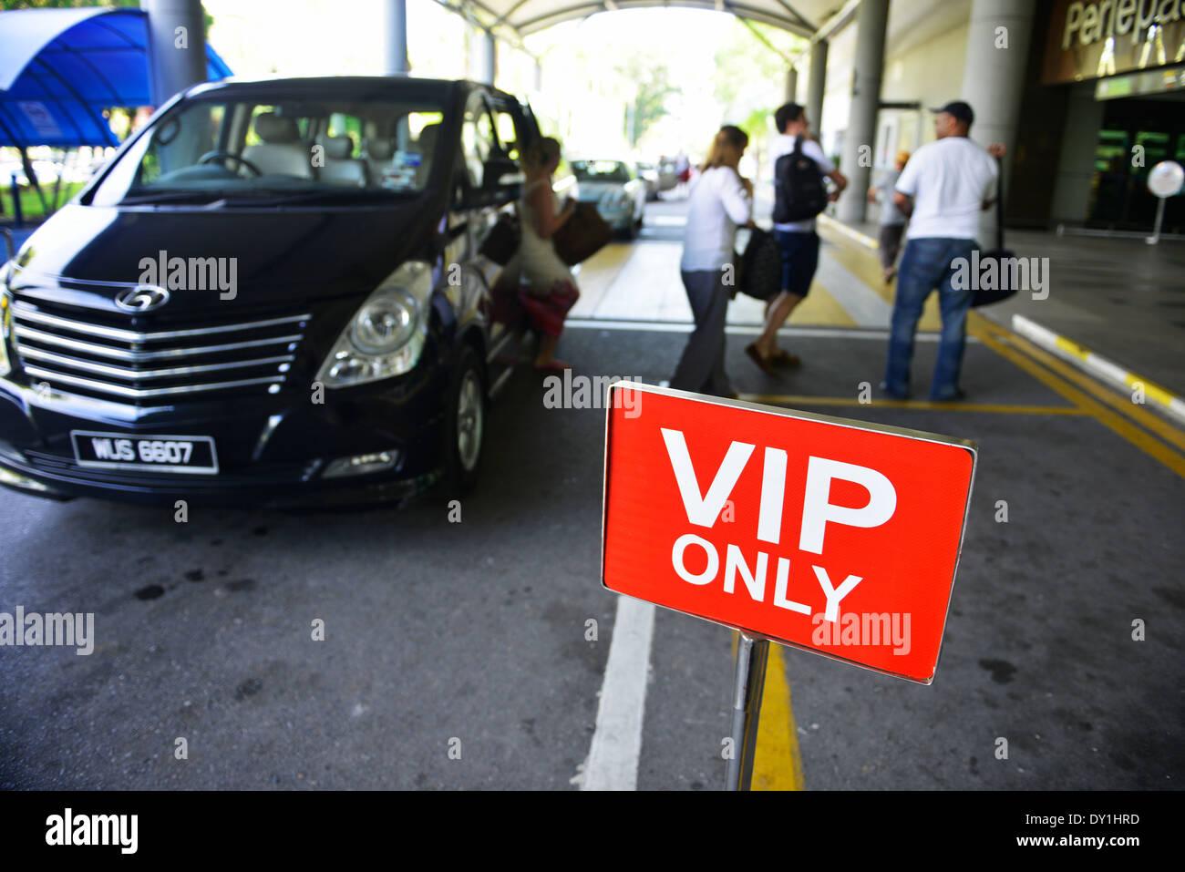 VIP hotel parking - Stock Image
