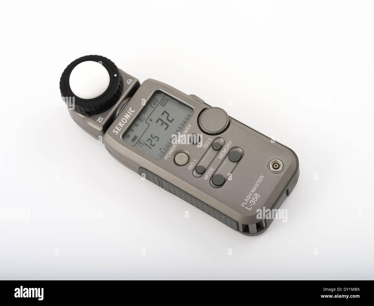 Sekonic Flashmaster L-358 Lightmeter Light Meter for photography cinematography Stock Photo