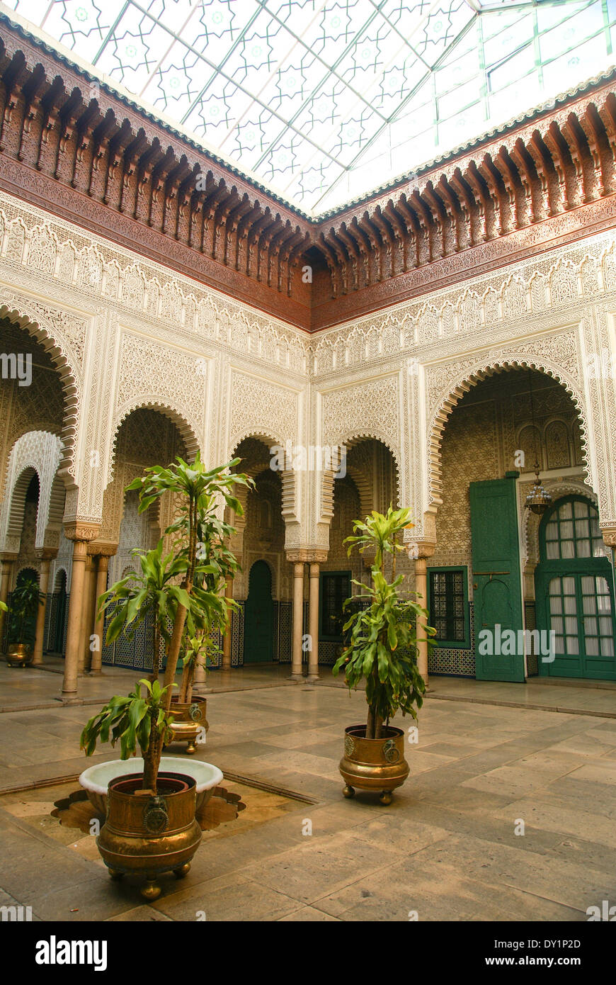 Palais de Justice - Palace of Justice the Local court. Casablanca, Morocco - Stock Image