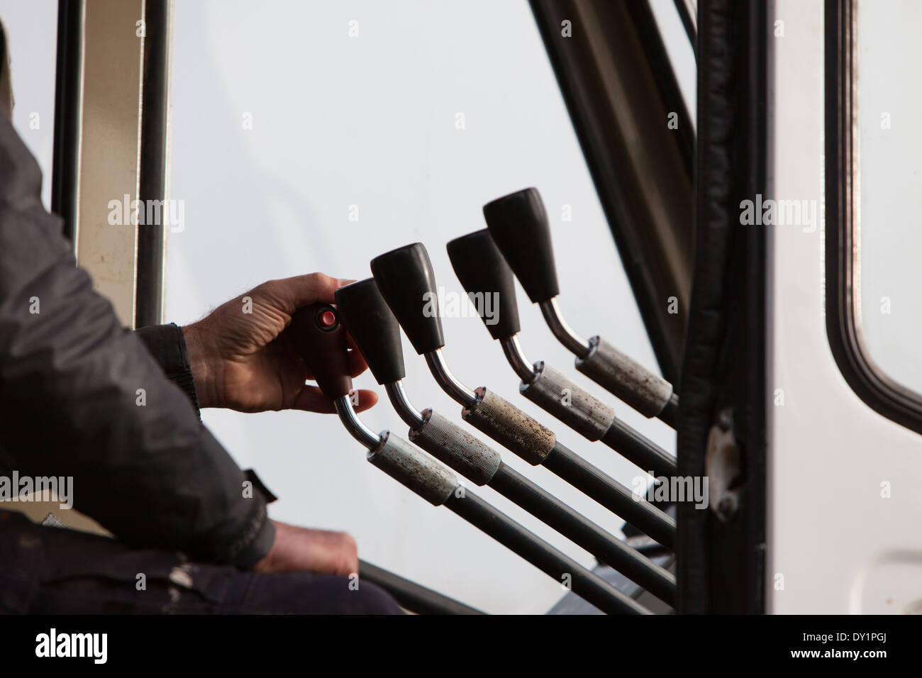 control levers crane Stock Photo: 68266482 - Alamy