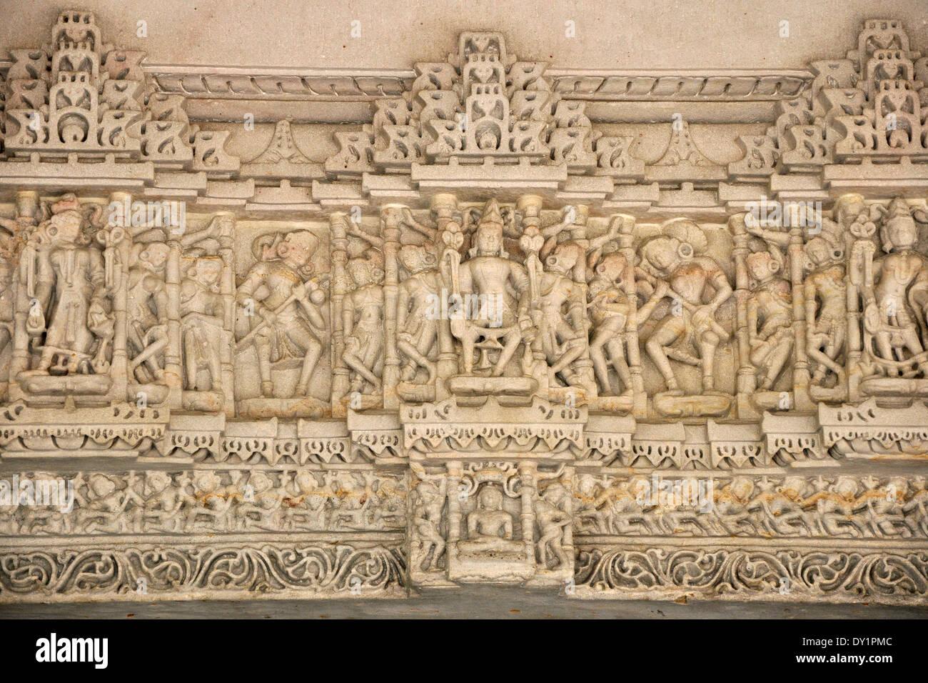 India, Gujarat, Ahmedabad, Swaminarayan Akshardham Temple - Stock Image