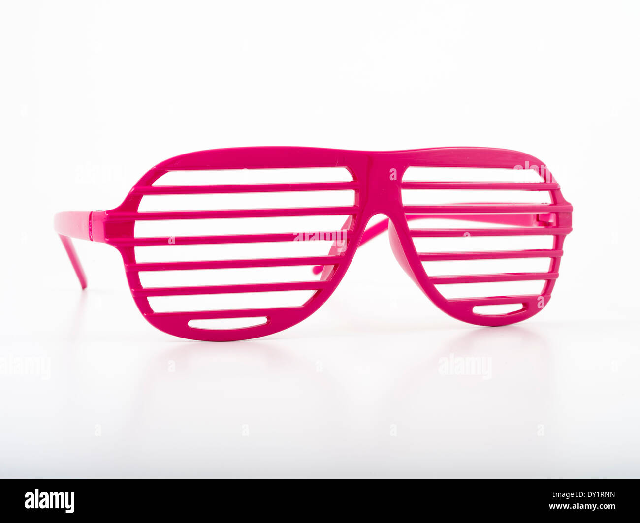 Pink Shutter Shades Fashion sunglasses - Stock Image