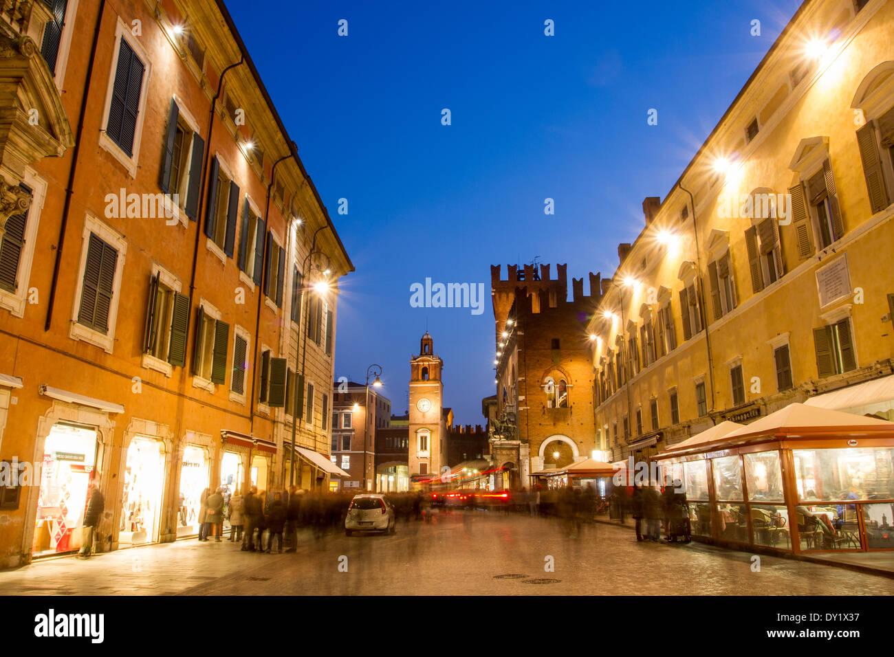 Corso Martiri della Libertà, Ferrara, Emilia Romagna, Italy - Stock Image