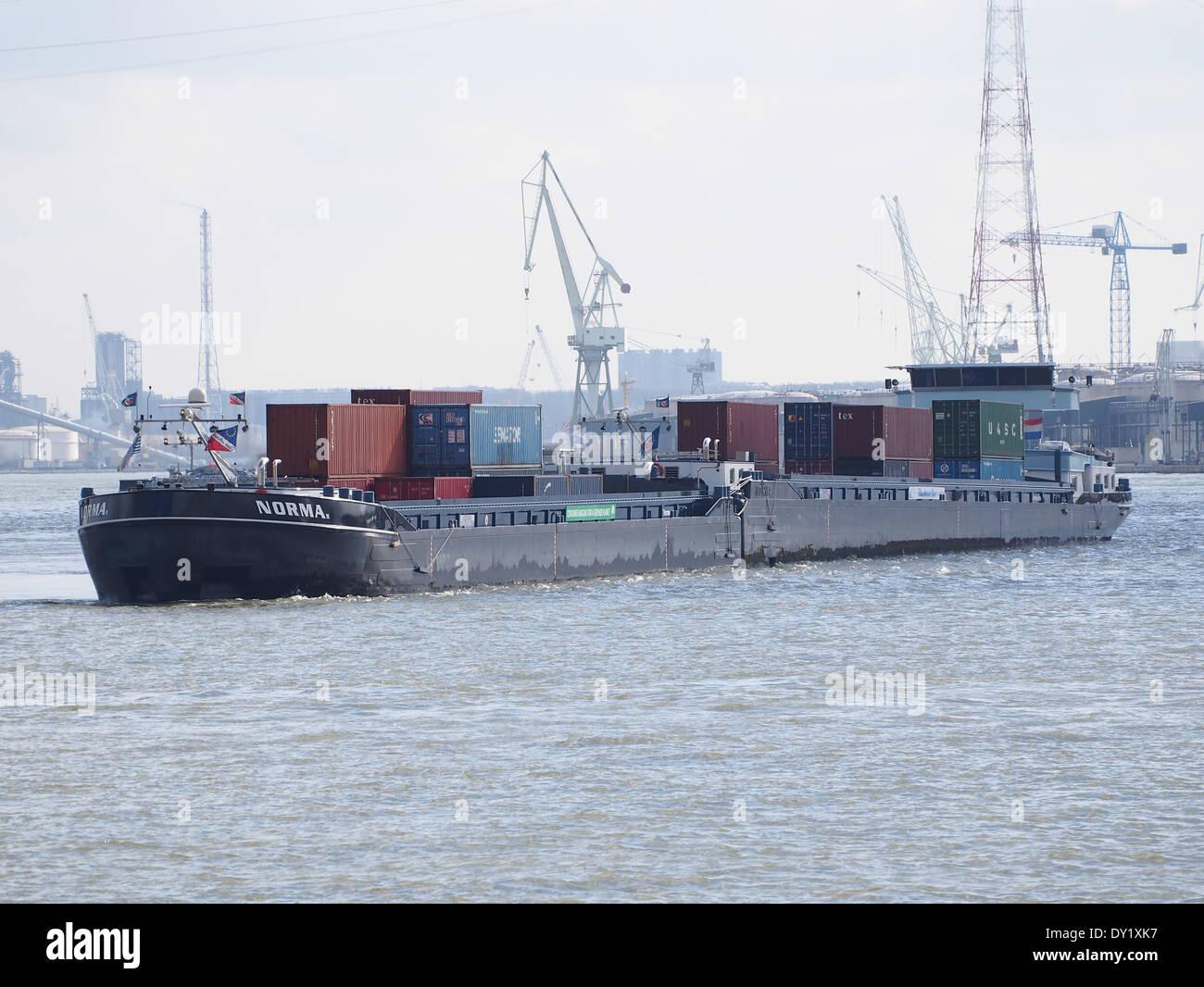 NORMA ENI 02328681 & NORMA II ENI 02329245 at Port of Antwerp - Stock Image