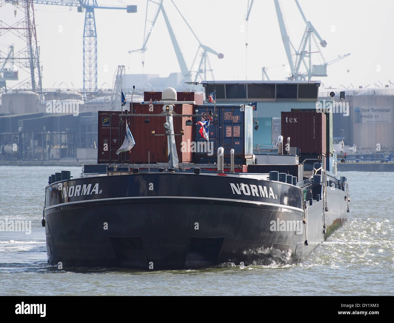 NORMA ENI 02328681 & NORMA II ENI 02329245 at Port of Antwerp pic2 - Stock Image