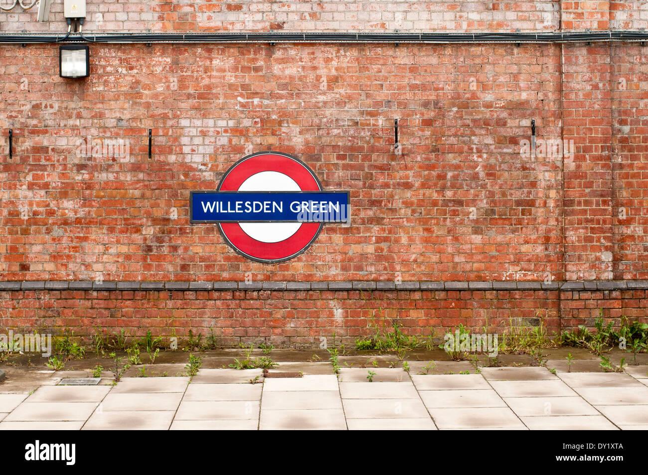 Willesden Green Tube Station Logo - Stock Image