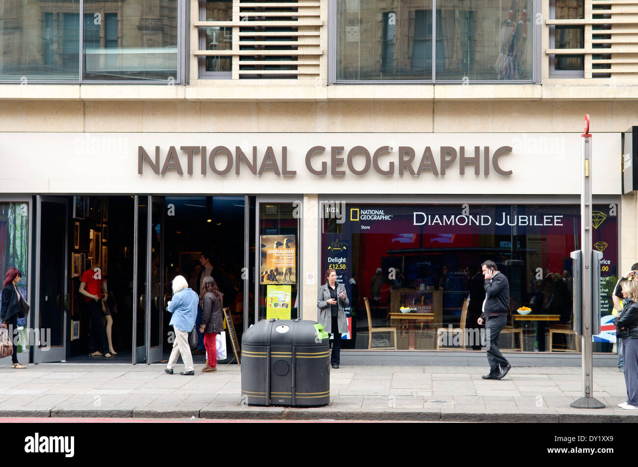 National Geographic Shop, Knightsbridge, London , UK - Stock Image