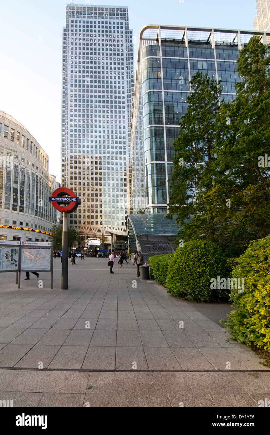 One Canada Square, Canary Wharf, London - Stock Image