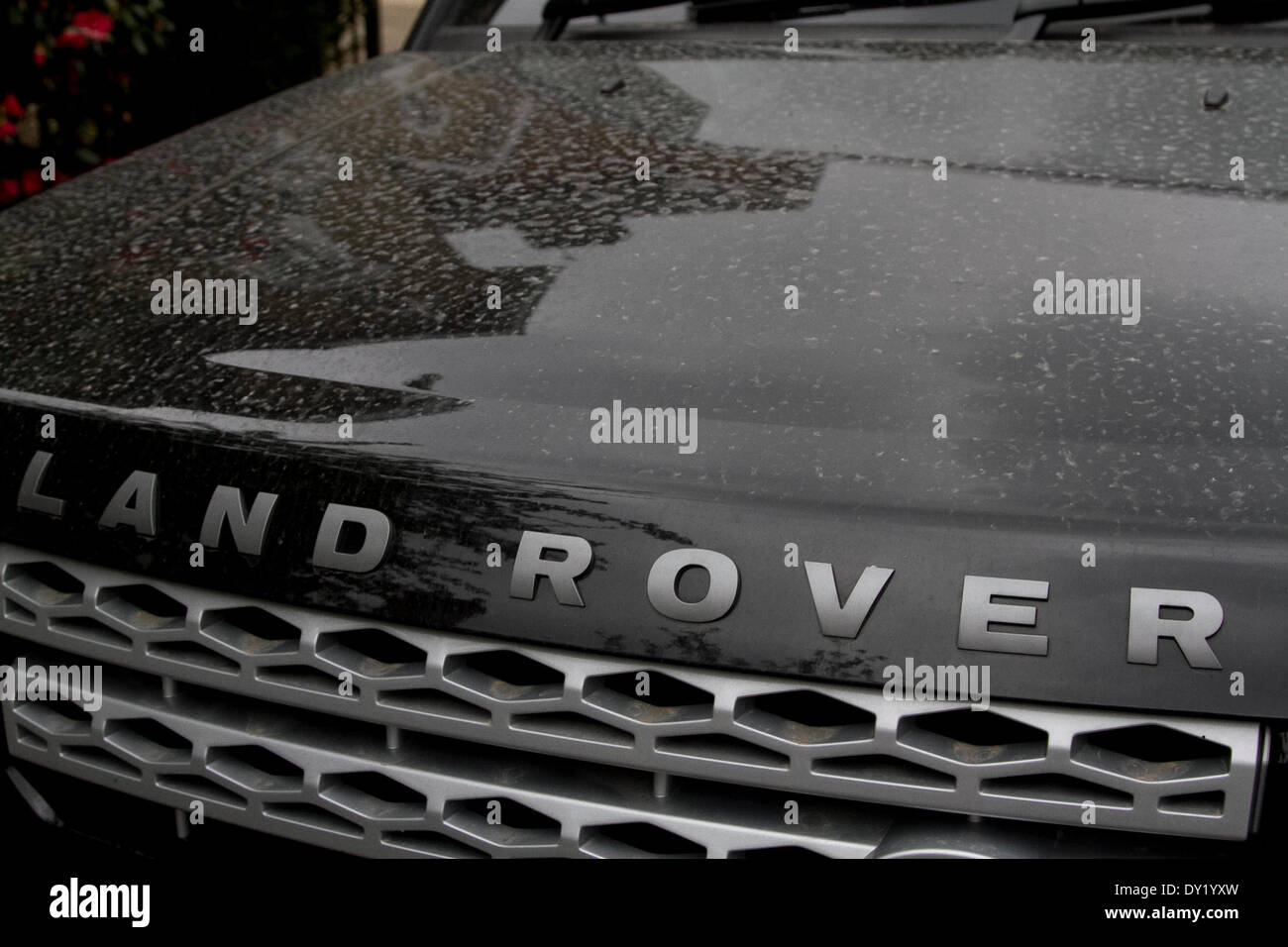 Wimbledon London, UK. 3rd April 2014. Car vehicles are coated with a film  of Sahara sand  and dust residue carried by south east winds from North Africa Credit:  amer ghazzal/Alamy Live News - Stock Image