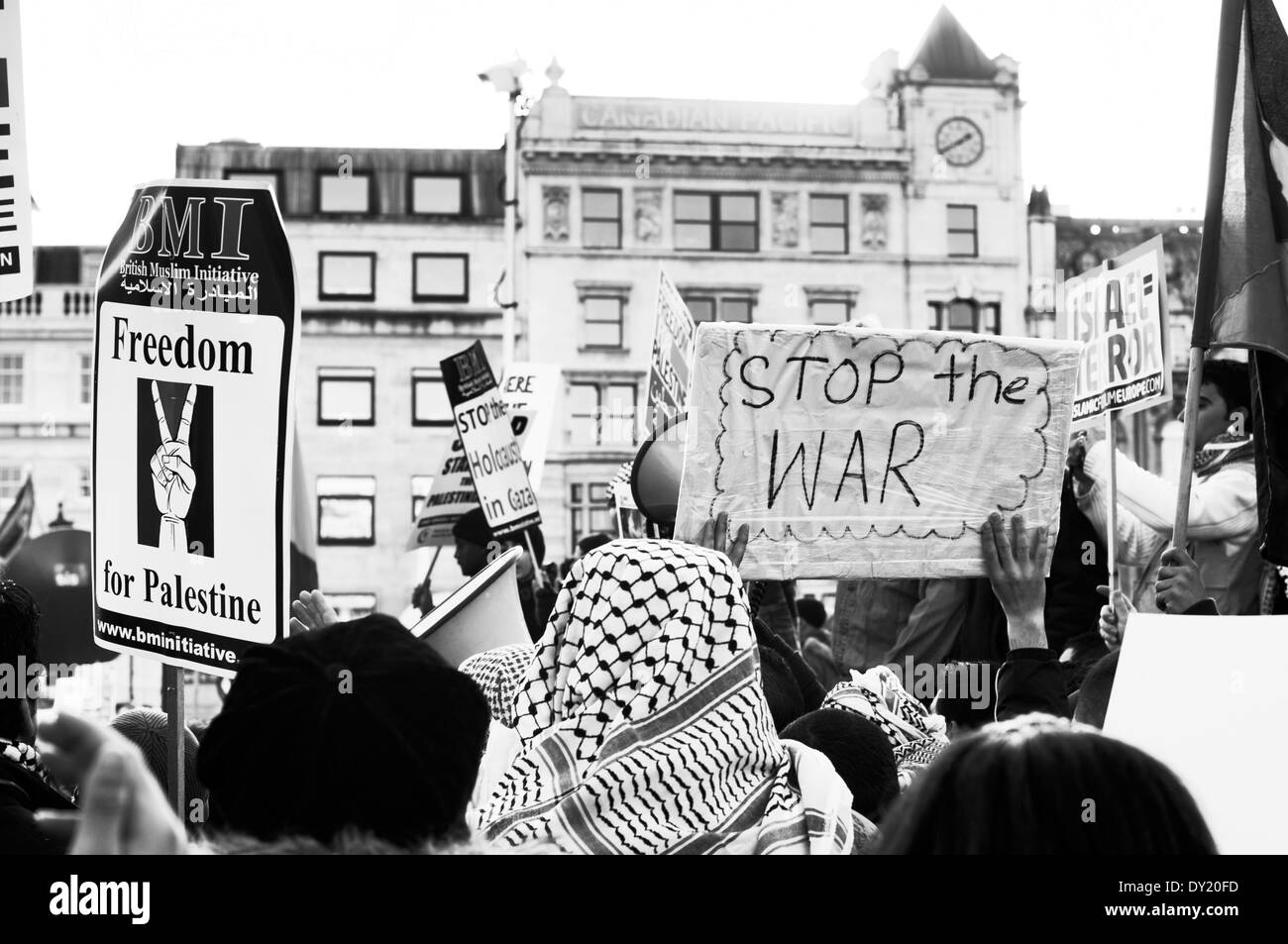 Anti Israel Demo London - Stock Image