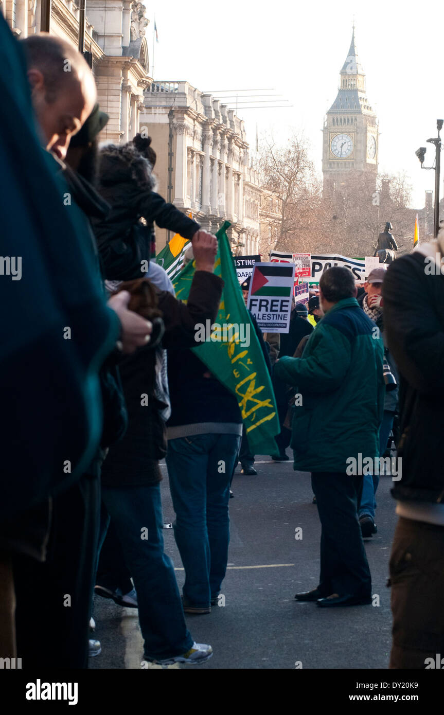 Peaceful Anti Israel Demo, London - Stock Image