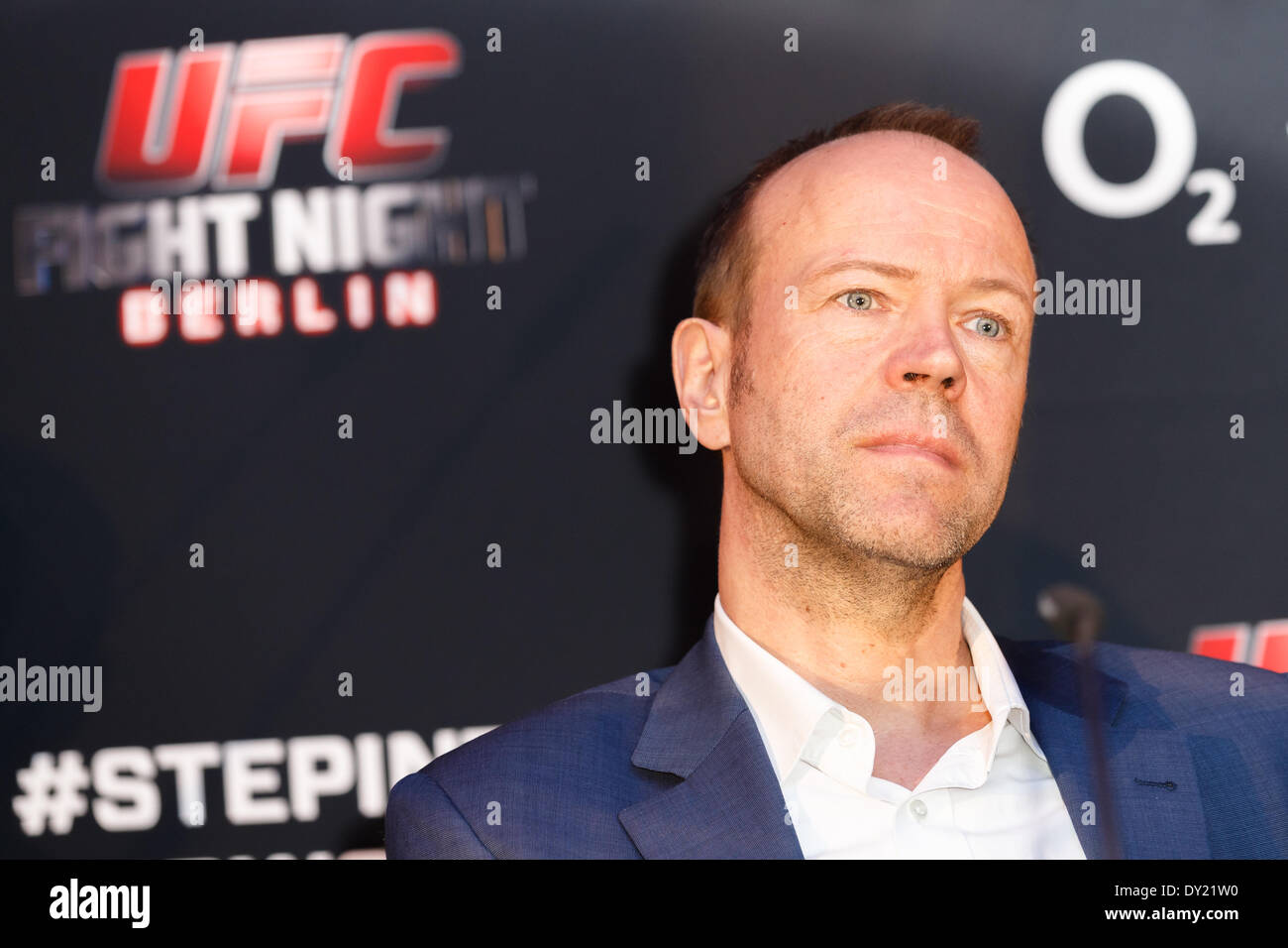 Berlin, Germany. April 03, 2014. FIGHT NIGHT BERLIN, UFC press conference and photo call with headline fighters - Stock Image