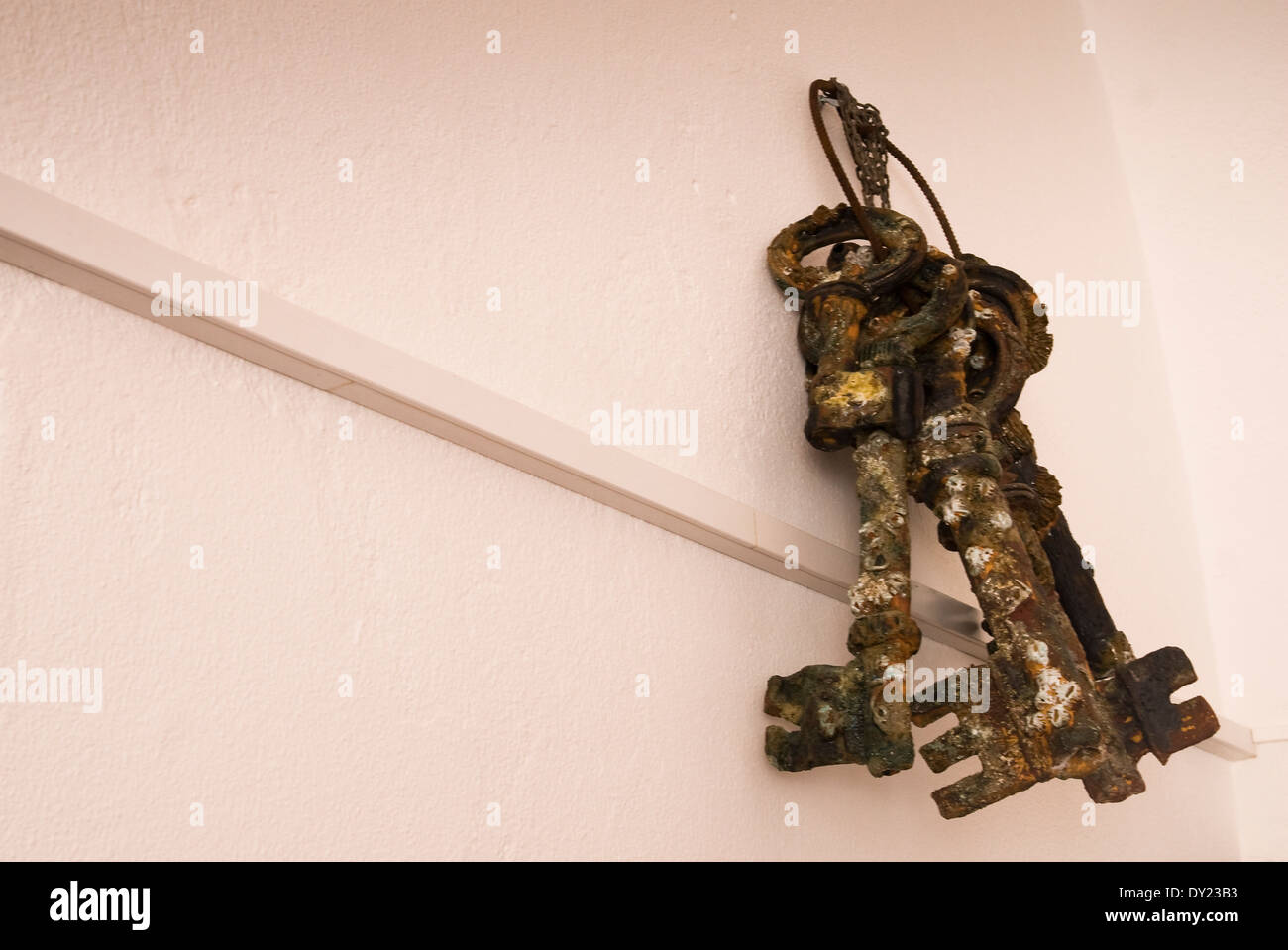 Old rusty keys from the lighthouse at Cape St. Vincent, Sagres, Portugal - Stock Image