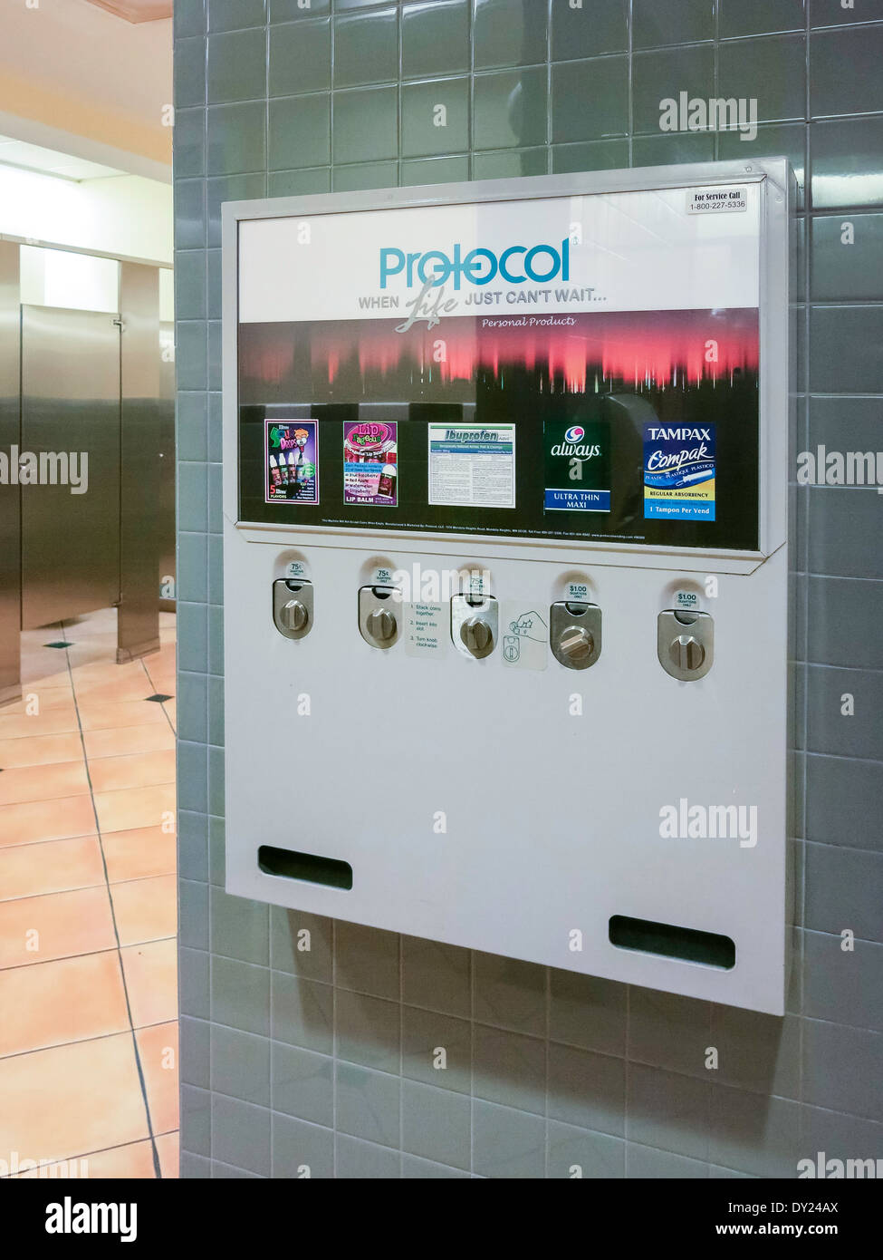 Protocol Brand Family Friendly Product Vending Machine In Ladies 39 Stock Photo 68274162 Alamy