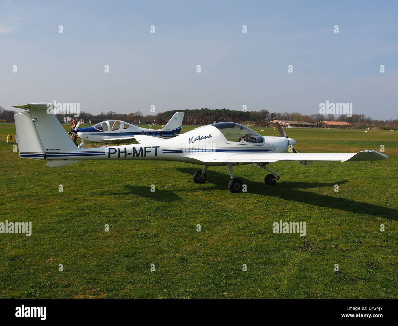 PH-MFT, HOAC DV-20-100 Katana at Hilversum Airport (ICAO EHHV), photo1 - Stock Image