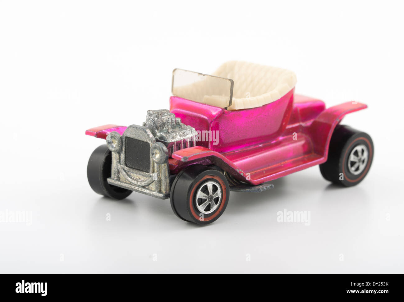 Pink Hot Heap, Hot Wheels die-cast toy cars by Mattel 1968 with Spectraflame paintwork - Stock Image