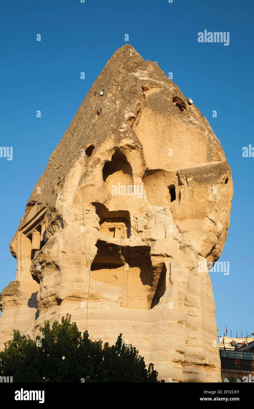 rock houses, goreme, cappadocia, anatolia, turkey, asia Stock Photo